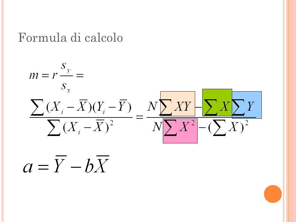 Formula di calcolo