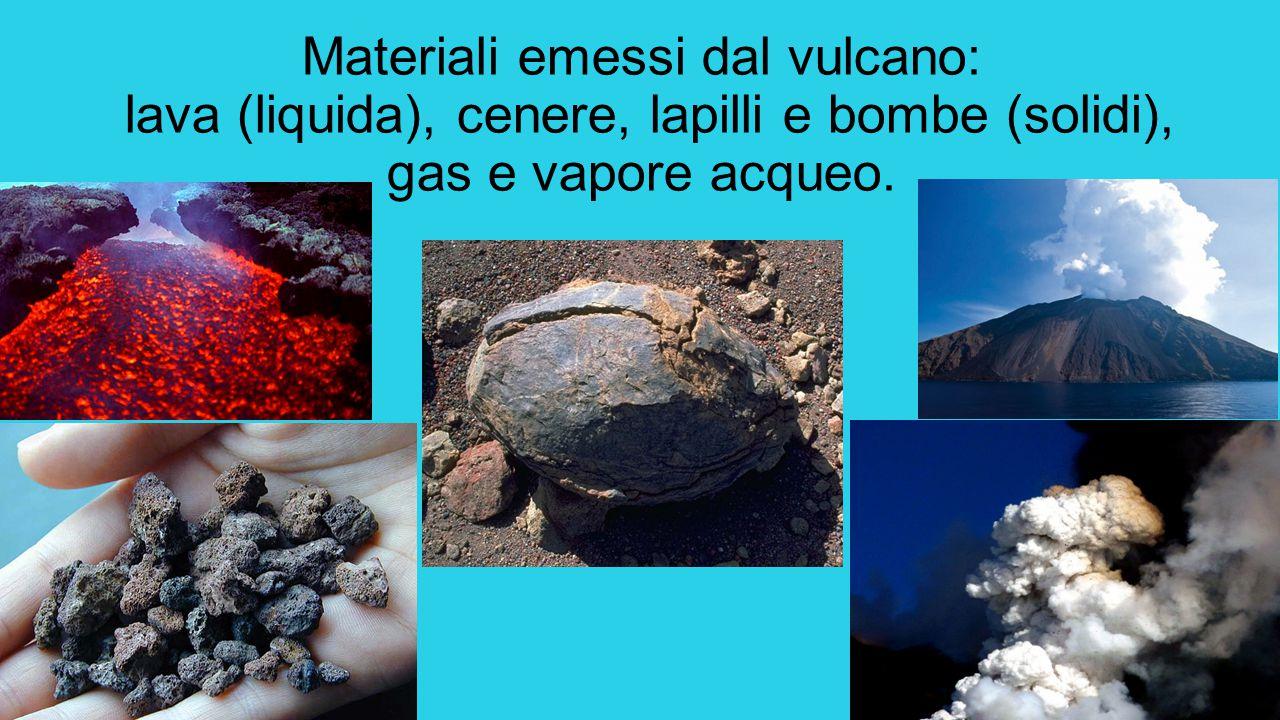 Quando il magma fuoriesce dal cratere avviene un'eruzione Se il magma è fluido si ha un'eruzione effusiva.