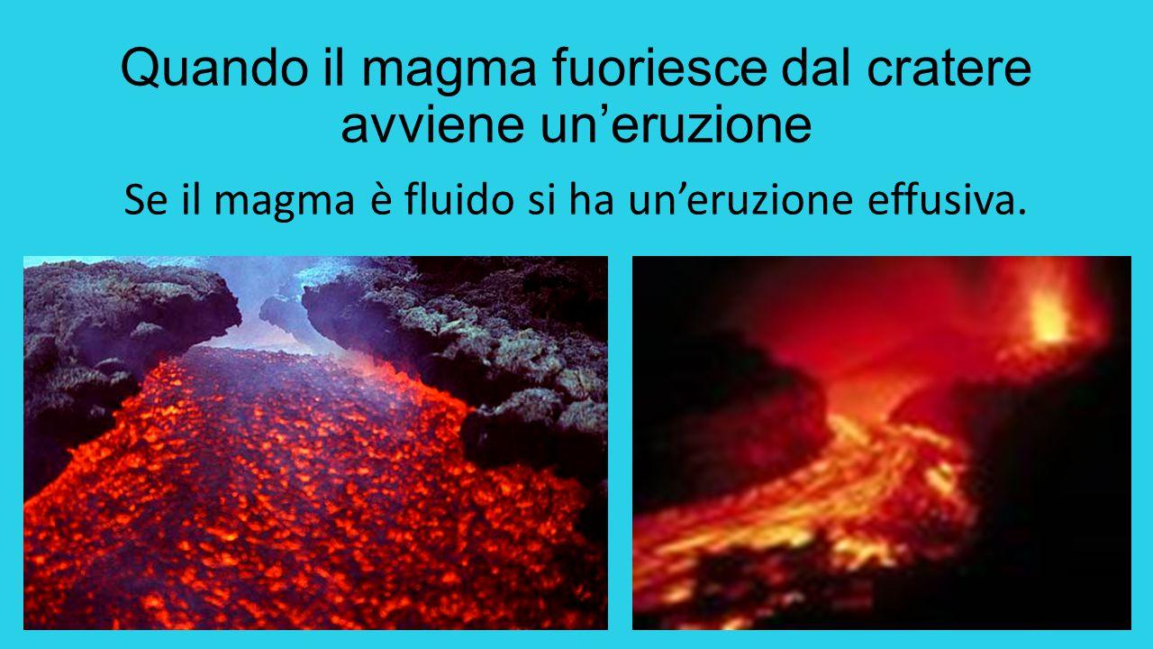 Se il magma è molto denso fa più fatica a uscire e avviene un'eruzione esplosiva.