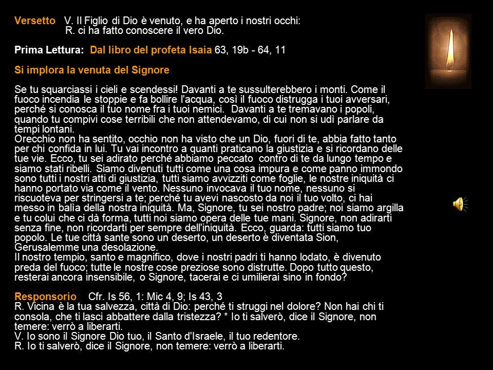3^ Antifona Salvaci, Signore, radunaci da tutte le nazioni.