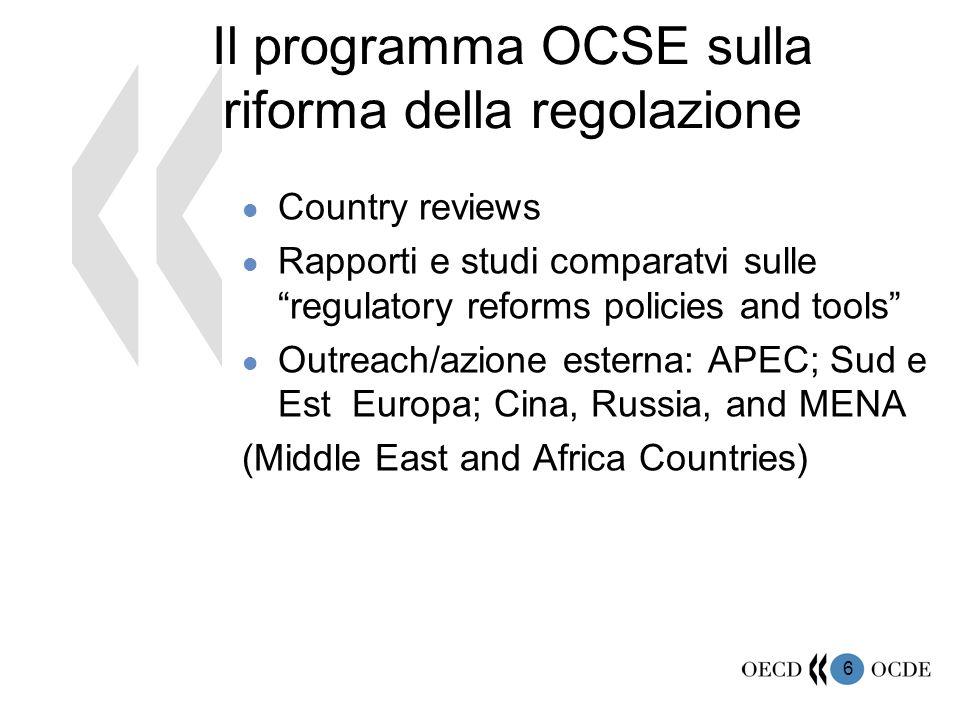 17 Le strategie per la Regulatory Quality I.