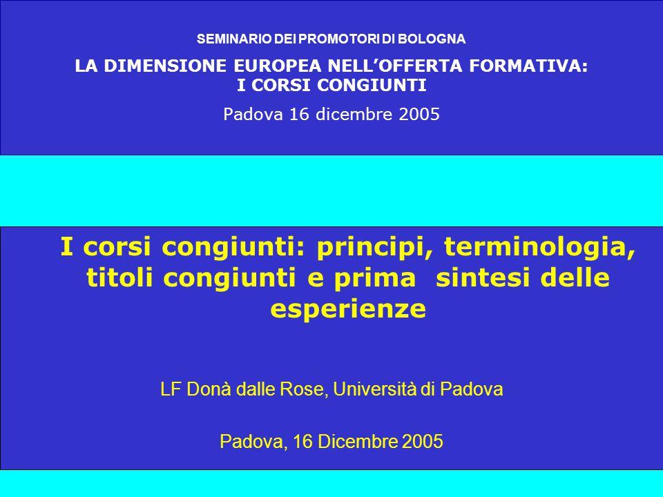 DI COSA STIAMO PARLANDO ? LF Donà dalle Rose, Padova 2005