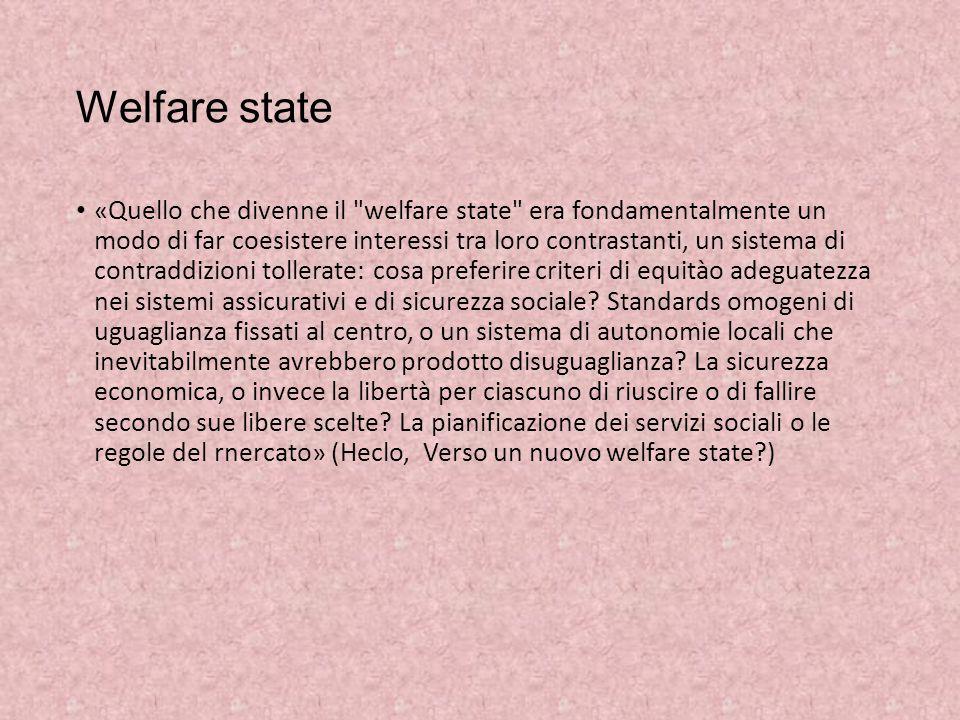 Welfare state «Quello che divenne il