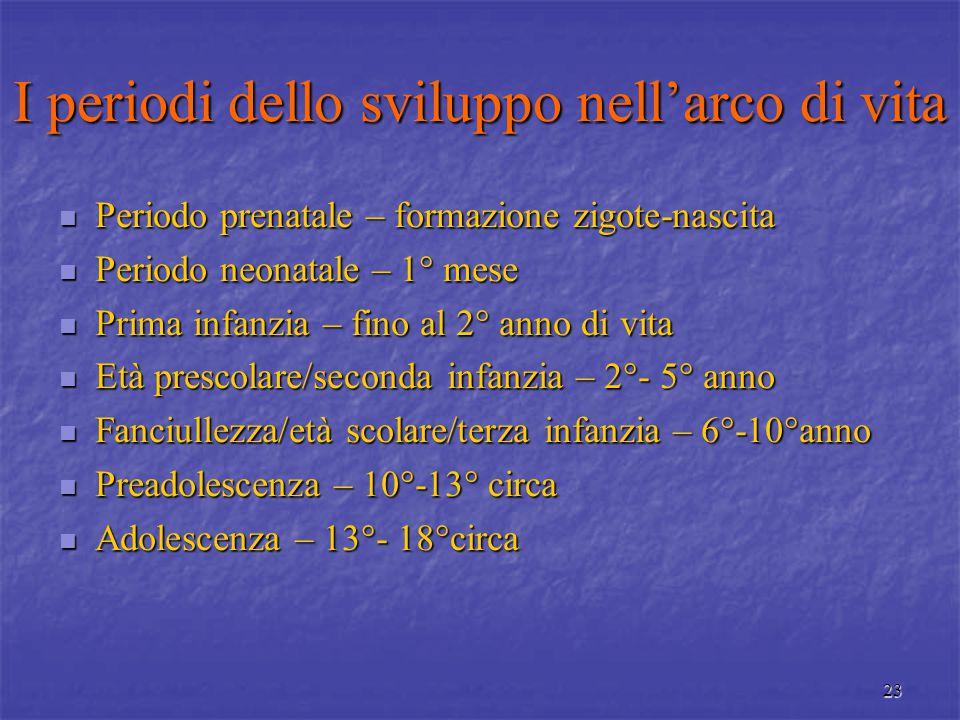 22 PSICOLOGIA DELLO SVILUPPO NELLA PROSPETTIVA DEL CICLO DI VITA O LIFE SPAN Lo sviluppo riguarda tutta l'esistenza (Baltes e Reese, 1986).