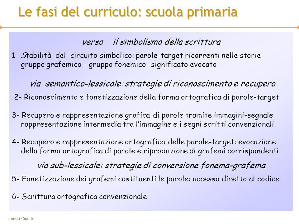 Lerida Cisotto verso il simbolismo della scrittura 1- Stabilità del circuito simbolico: parole-target ricorrenti nelle storie gruppo grafemico - grupp