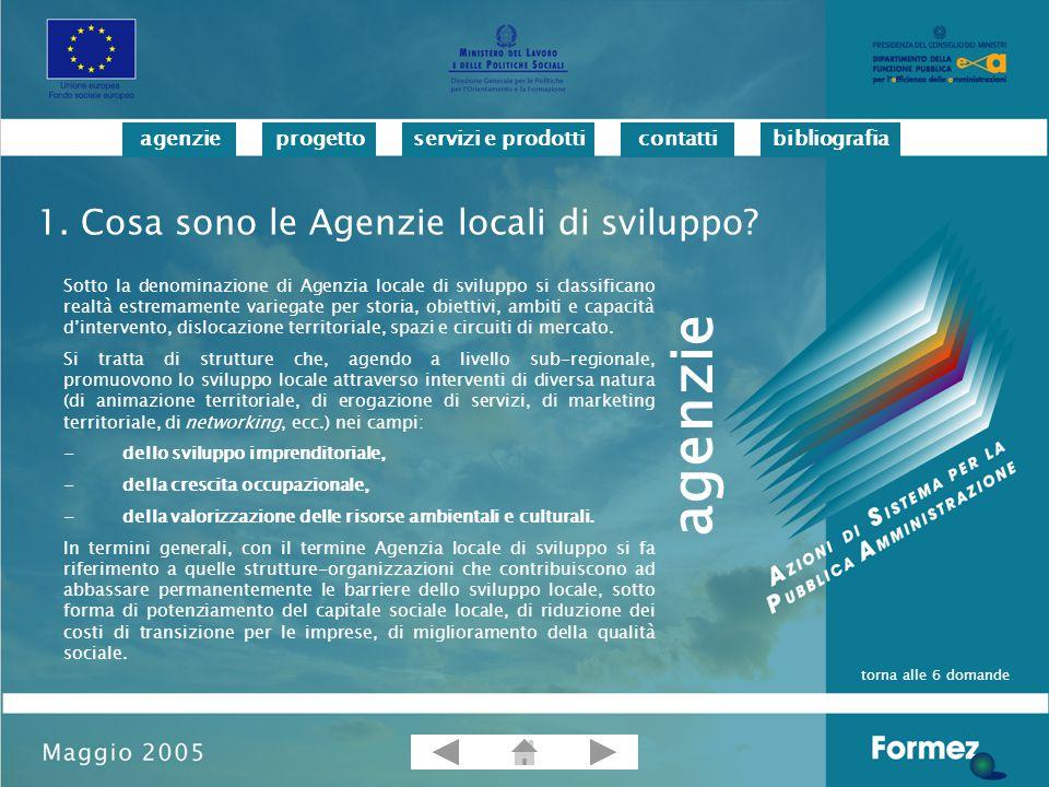 progettoservizi e prodotticontattibibliografiaagenzie 2.