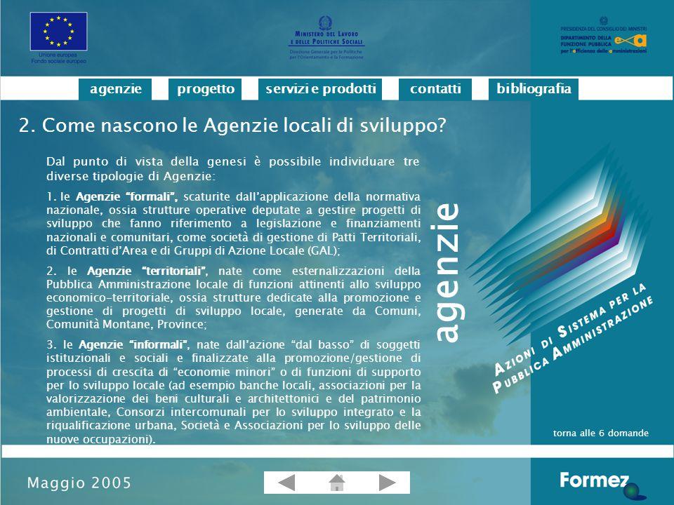 progettoservizi e prodotticontattibibliografiaagenzie Bobbio L.