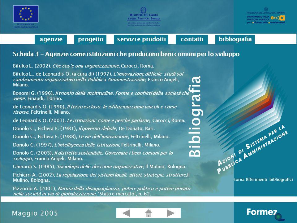 progettoservizi e prodotticontattibibliografiaagenzie Bifulco L.