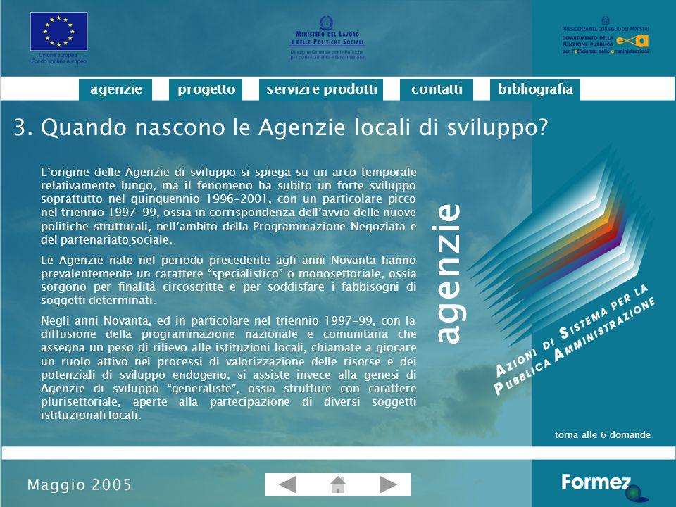 progettoservizi e prodotticontattibibliografiaagenzie per informazioni sul progetto Antonella Verro Tel.
