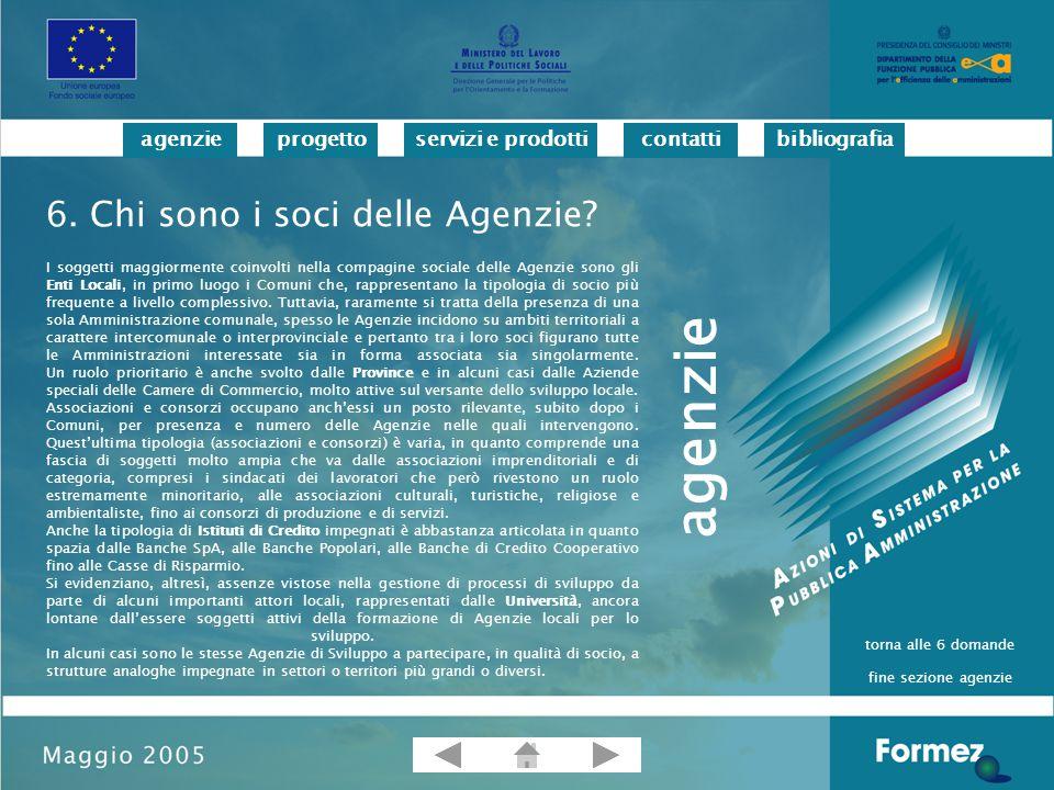 progettoservizi e prodotticontattibibliografiaagenzie Avarello P., Ricci M.