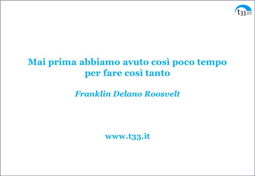 Mai prima abbiamo avuto così poco tempo per fare così tanto Franklin Delano Roosvelt www.t33.it