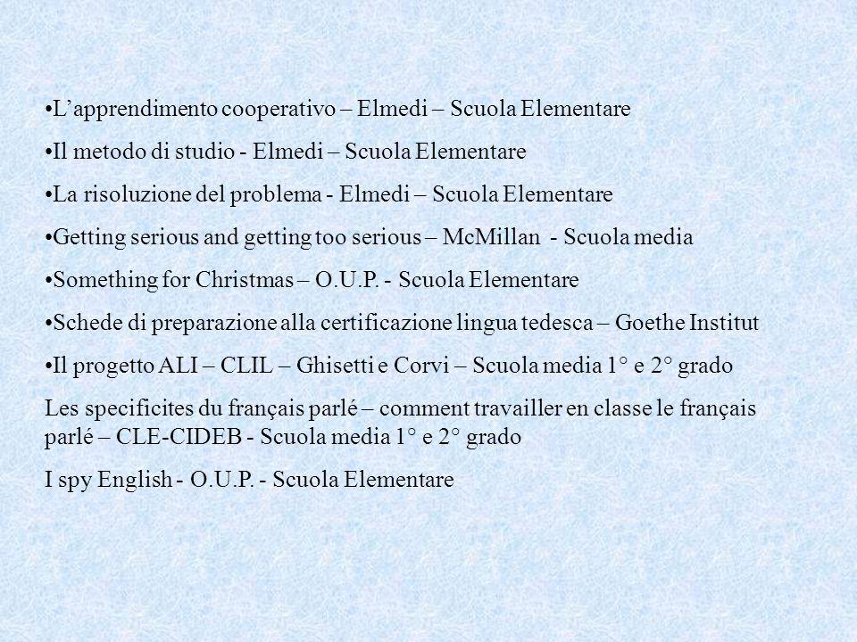 Materiali relativi ai corsi di formazione Progetto Lingue 2000 a.s.