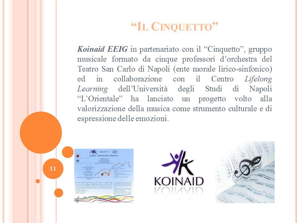 """""""I L C INQUETTO """" Koinaid EEIG in partenariato con il """"Cinquetto"""", gruppo musicale formato da cinque professori d'orchestra del Teatro San Carlo di Na"""