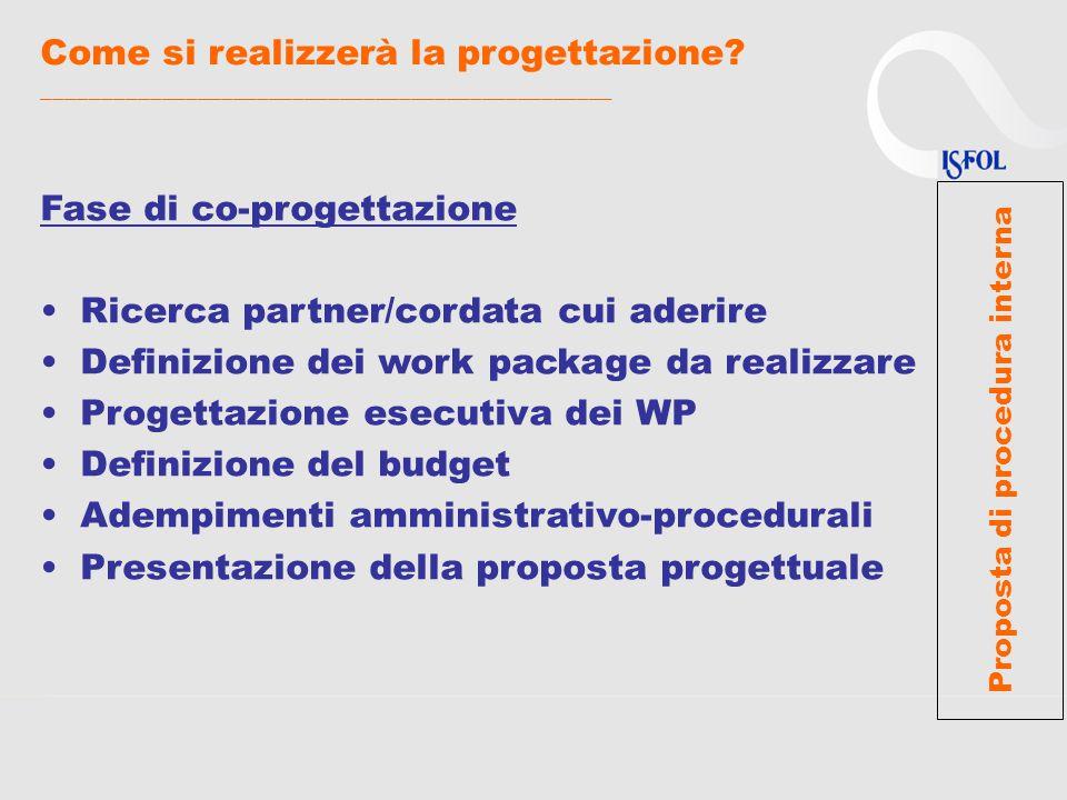 In sintesi, _________________________________________________ Per favorire la partecipazione ISFOL a Programmi europei proponiamo i seguenti servizi: segnalazione di bandi su temi d'interesse incontri informativi su Programmi/bandi supporto alla progettazione supporto alla ricerca dei partner assistenza su aspetti amministrativo- finanziari fino alla presentazione della proposta progettuale.