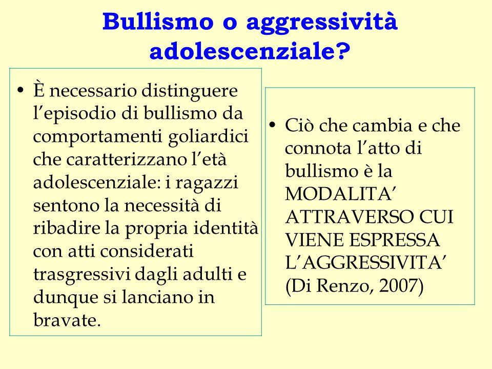 Bullismo o aggressività adolescenziale? È necessario distinguere l'episodio di bullismo da comportamenti goliardici che caratterizzano l'età adolescen
