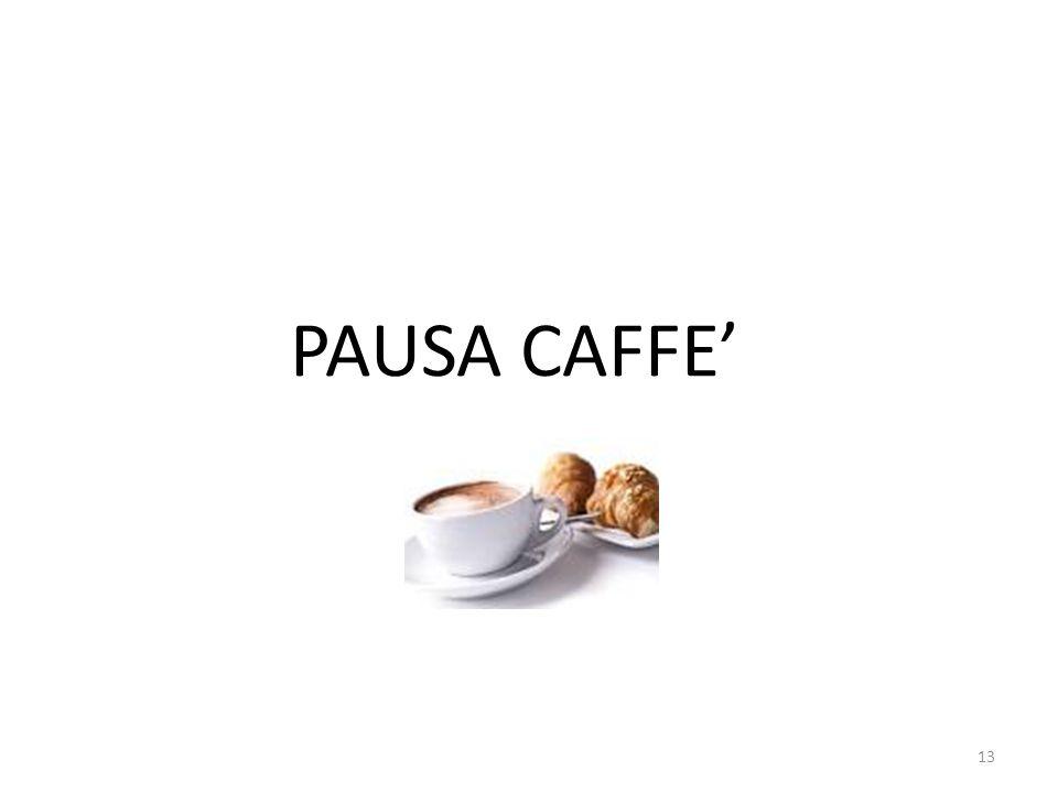 13 PAUSA CAFFE'
