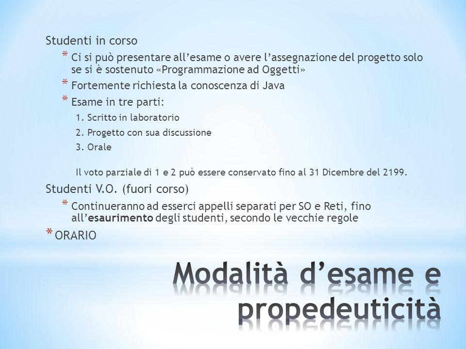Programma del Modulo: * Gestione dei file, dei processi e della memoria.
