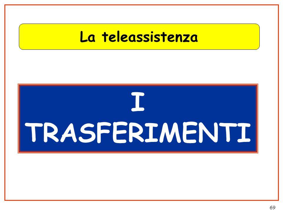 69 La teleassistenza I TRASFERIMENTI