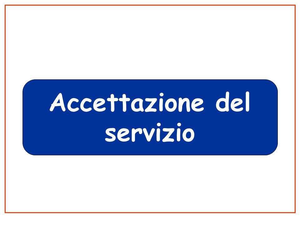 Accettazione del servizio