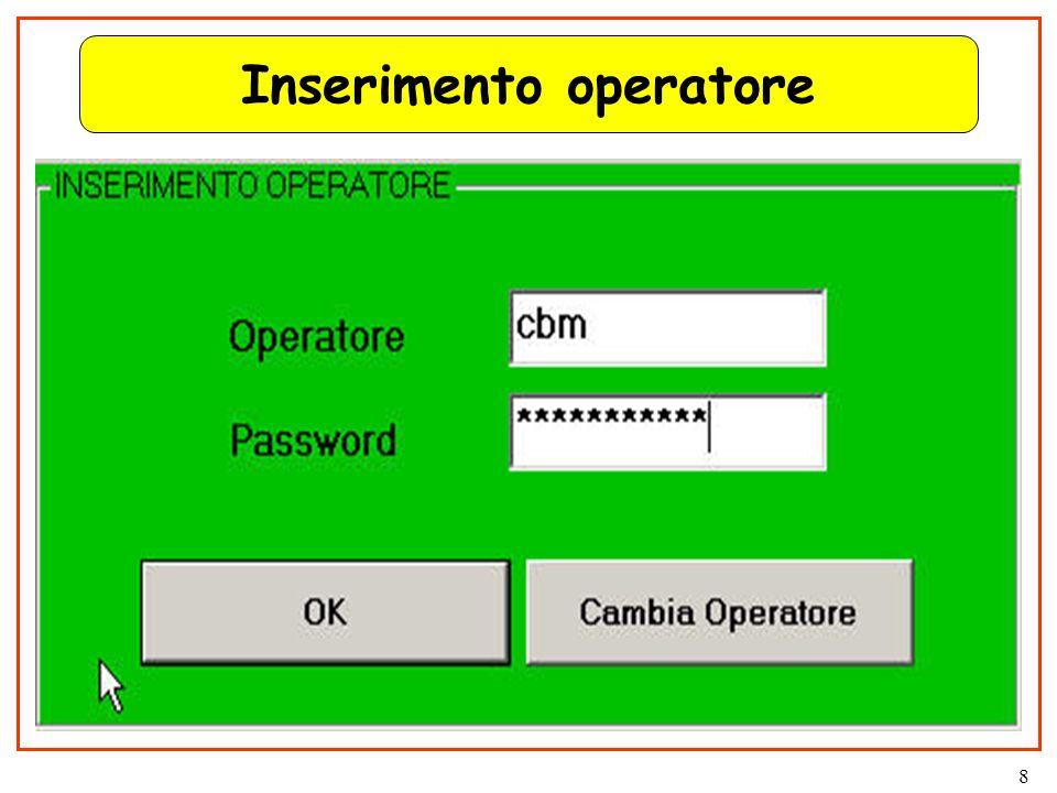 8 Inserimento operatore