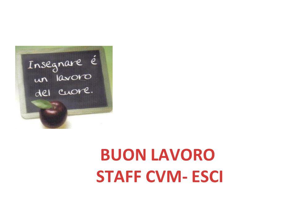 BUON LAVORO STAFF CVM- ESCI