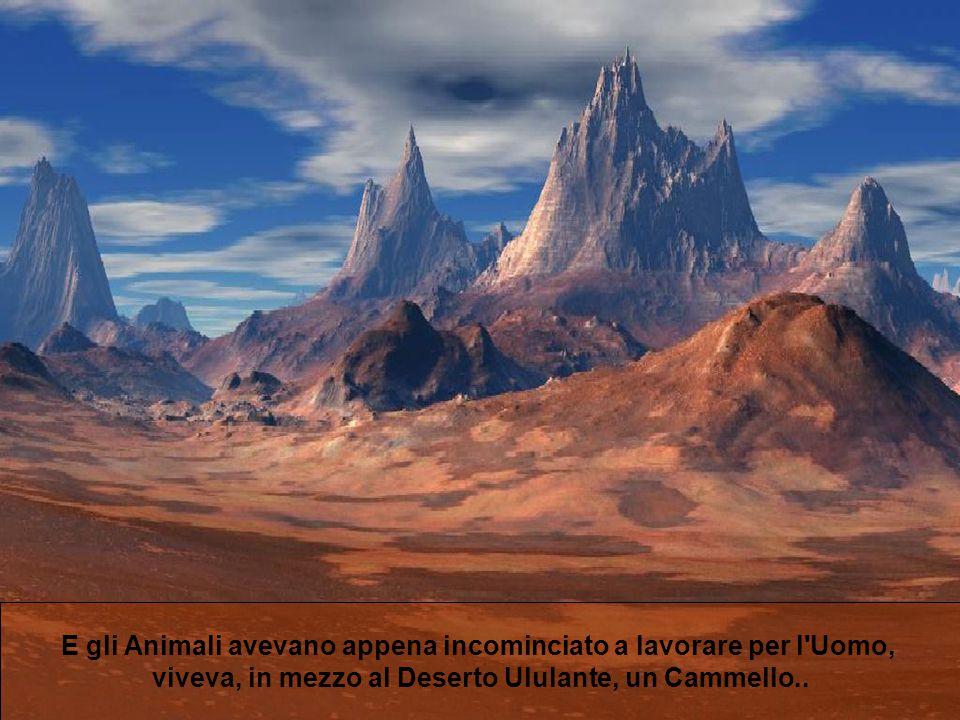 E gli Animali avevano appena incominciato a lavorare per l'Uomo, viveva, in mezzo al Deserto Ululante, un Cammello..