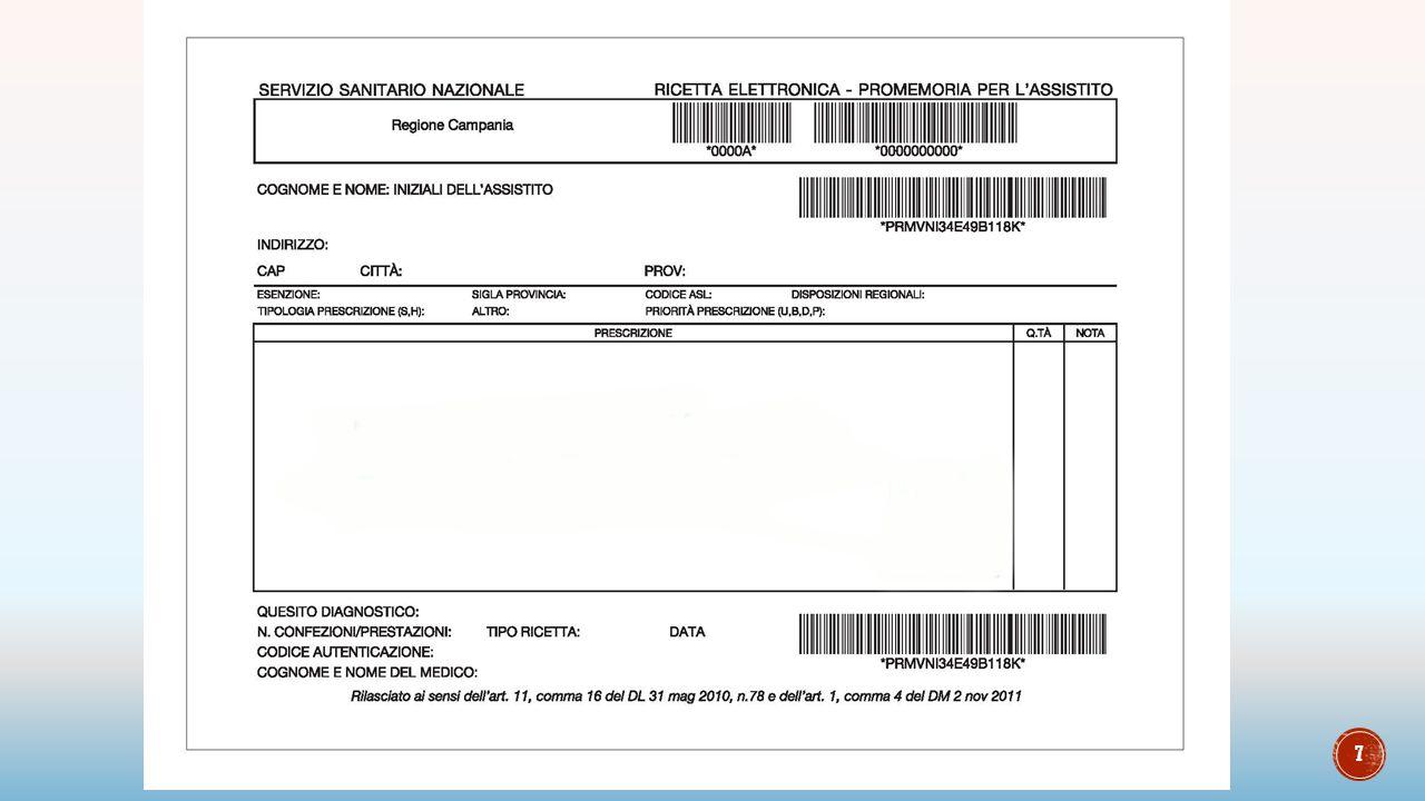 8 Acquisisce barcode: NRE Codice fiscale Il gestionale avvierà la connessione al SAC per ricevere i dati della prescrizione