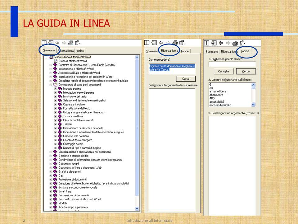 20 Ott 2003Introduzione all Informatica23 LE TABELLE