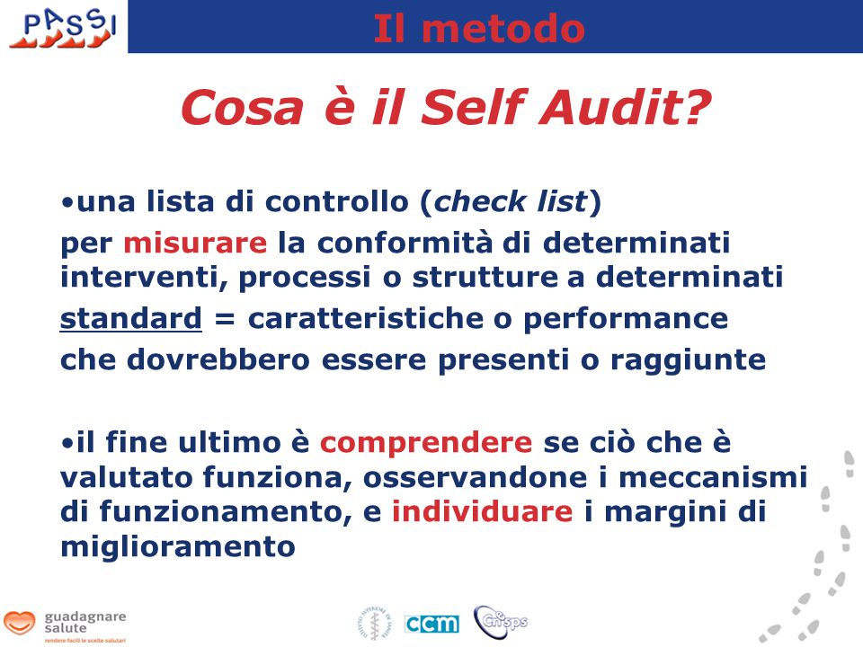 Cosa è il Self Audit.