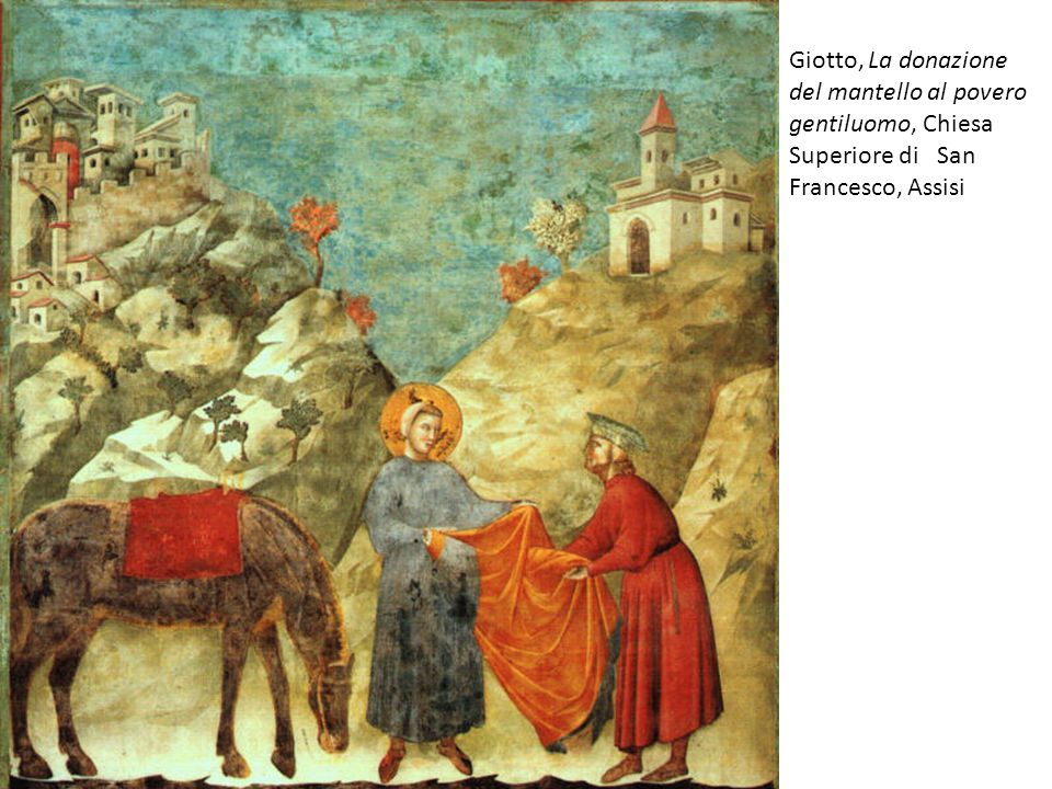 Giotto, La donazione del mantello al povero gentiluomo, Chiesa Superiore di San Francesco, Assisi
