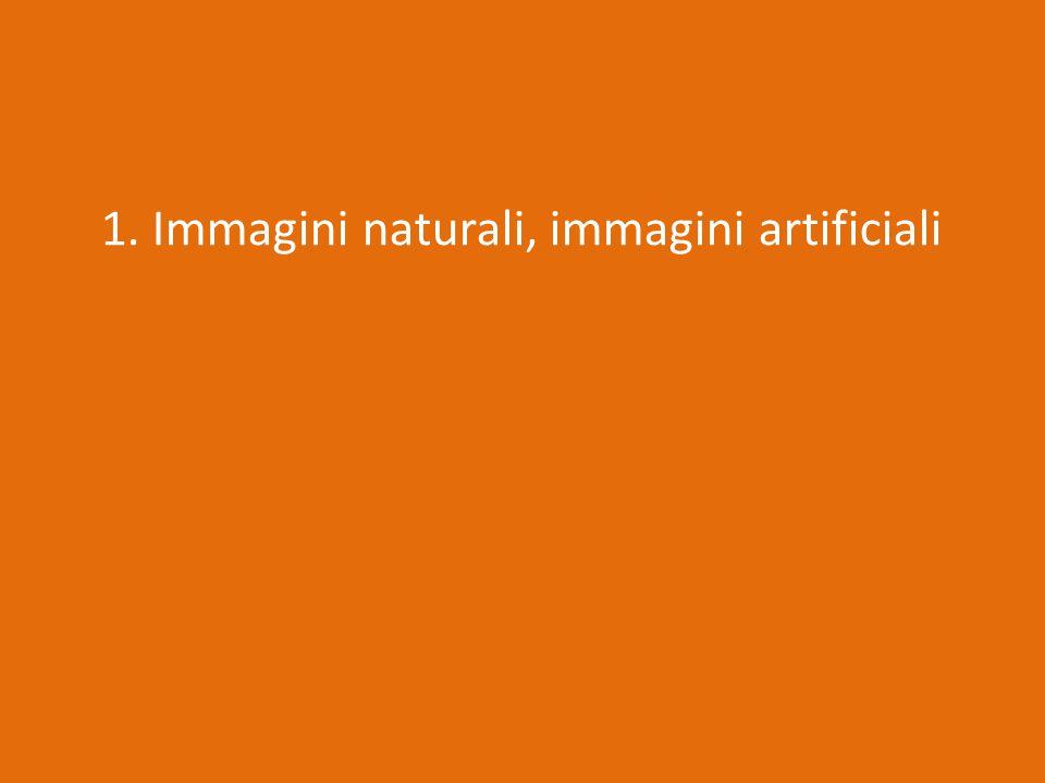 1. Immagini naturali, immagini artificiali