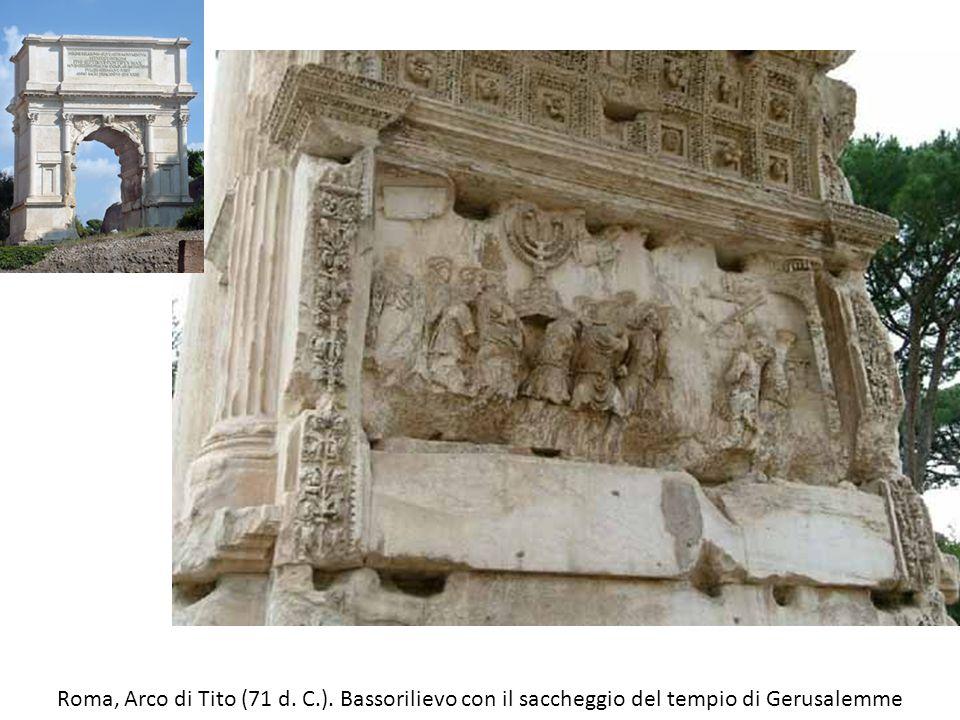 Roma, Arco di Tito (71 d. C.). Bassorilievo con il saccheggio del tempio di Gerusalemme