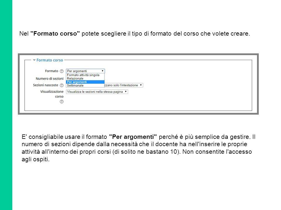 In Durata dovete inserire la data e l'ora di inizio del quiz e la sua relativa chiusura.