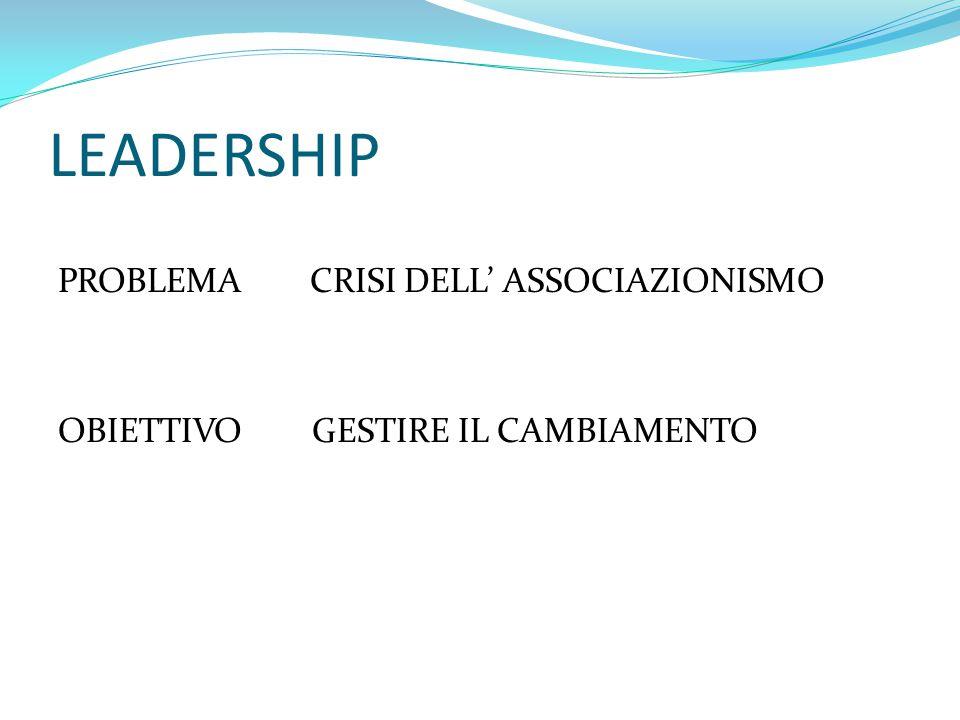 LEADERSHIP MOTIVAZIONE DIFFUSA FORMAZIONE