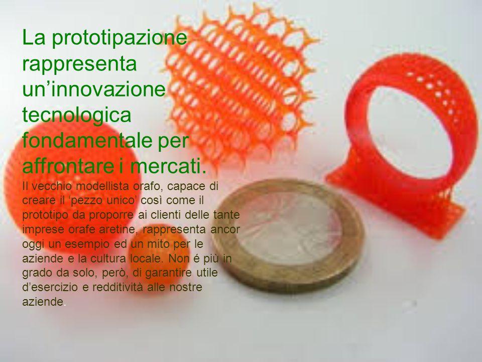 La prototipazione rappresenta un'innovazione tecnologica fondamentale per affrontare i mercati. Il vecchio modellista orafo, capace di creare il 'pezz