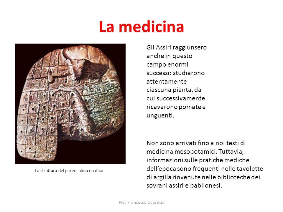La medicina Non sono arrivati fino a noi testi di medicina mesopotamici. Tuttavia, informazioni sulle pratiche mediche dell'epoca sono frequenti nelle