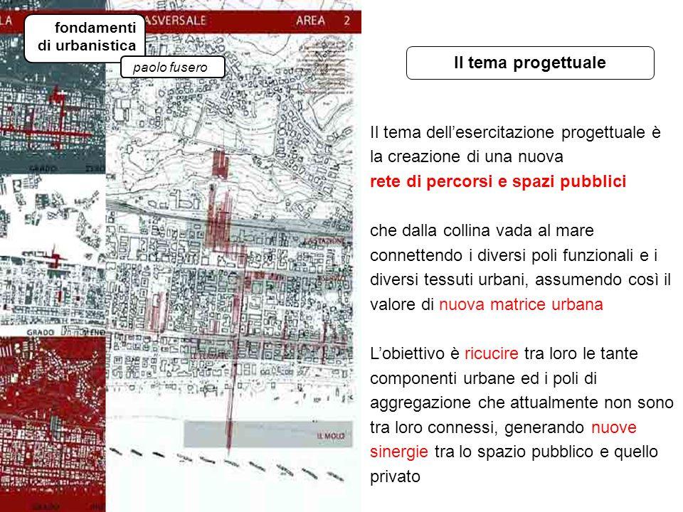 tema progettuale fondamenti di urbanistica paolo fusero Il tema progettuale Il tema dell'esercitazione progettuale è la creazione di una nuova rete di