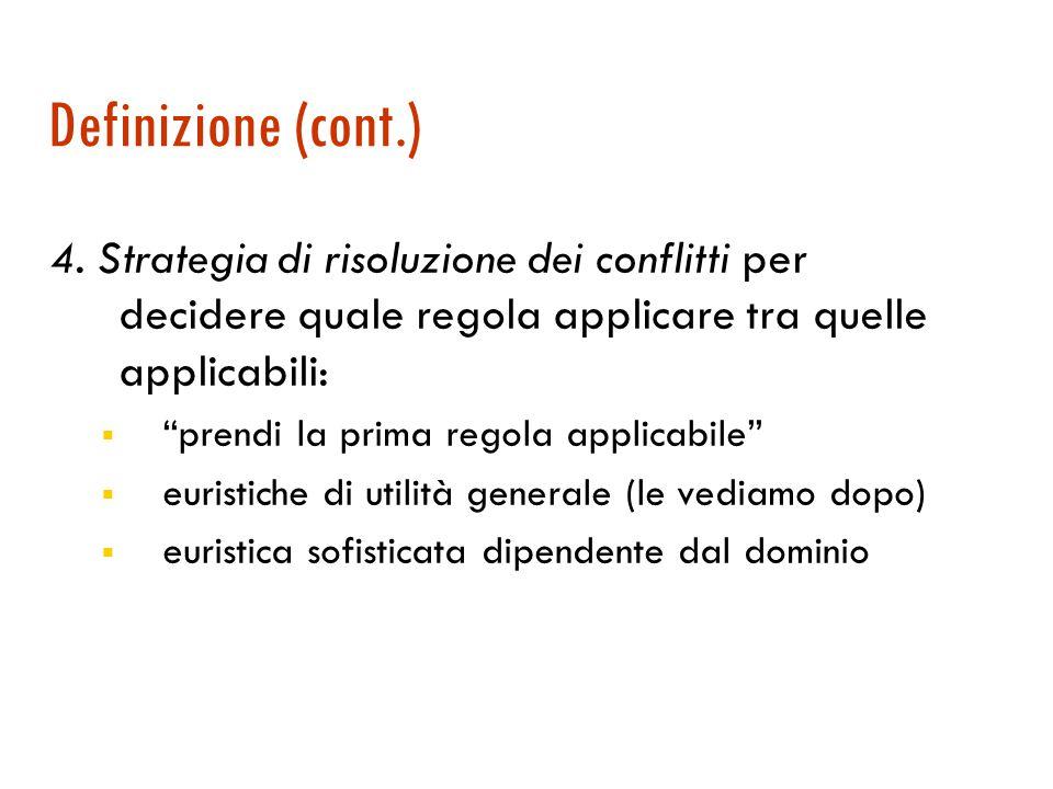 Definizione (cont.) 3. Un interprete che esegue un ciclo riconosci-agisci .