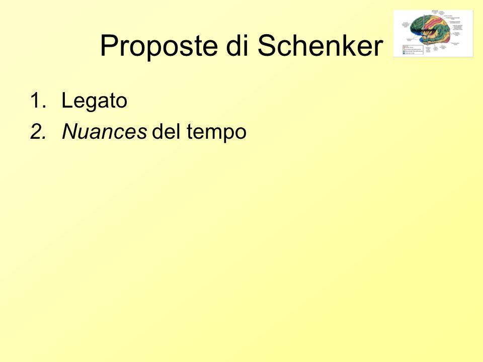 Proposte di Schenker 1.Legato 2.Nuances del tempo