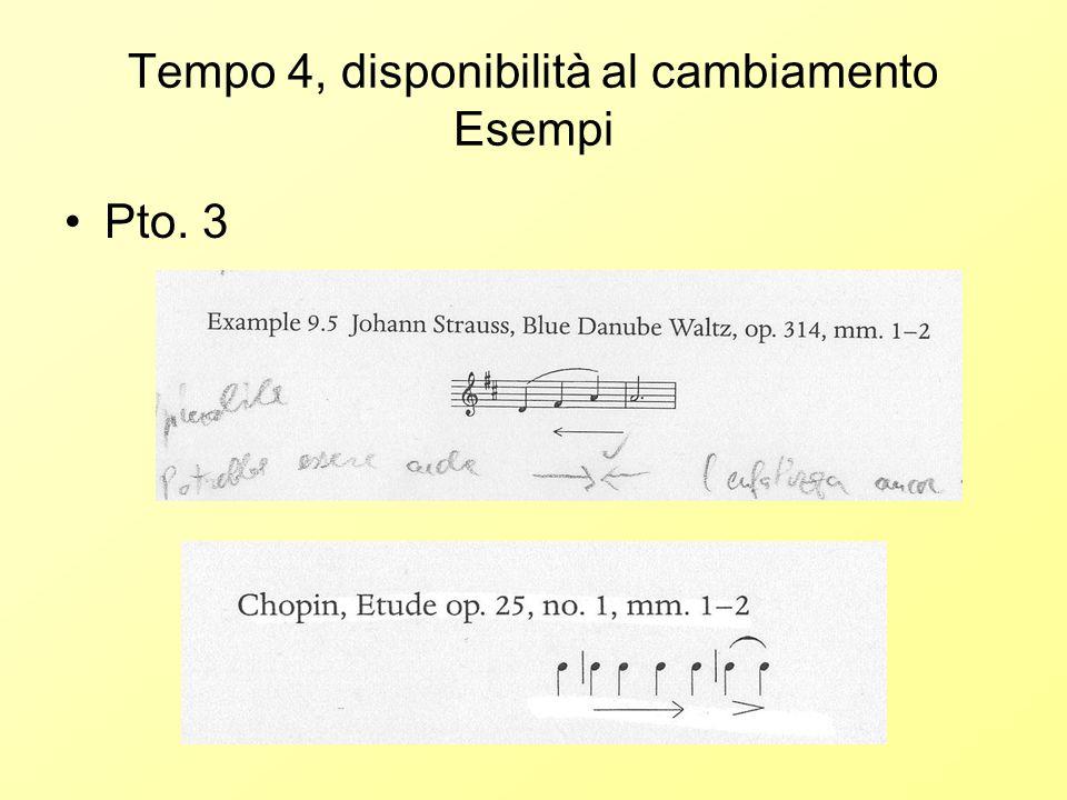 Tempo 4, disponibilità al cambiamento Esempi Pto. 3
