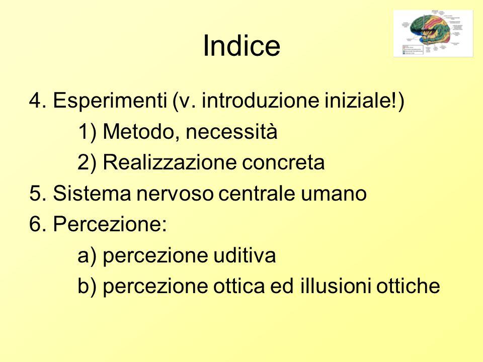 Indice 4. Esperimenti (v.