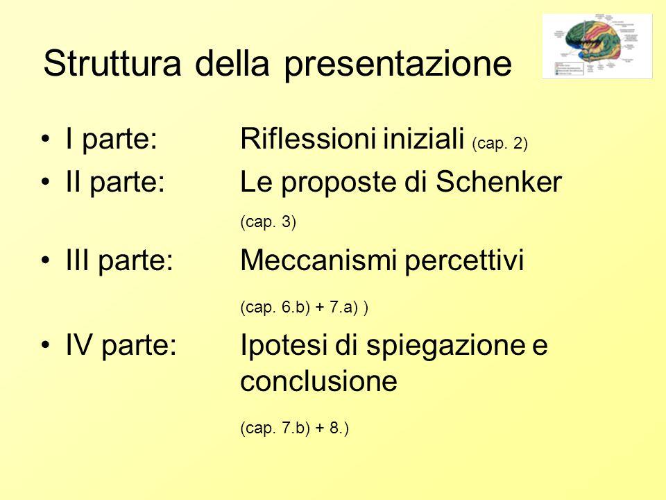 Struttura della presentazione I parte: Riflessioni iniziali (cap.