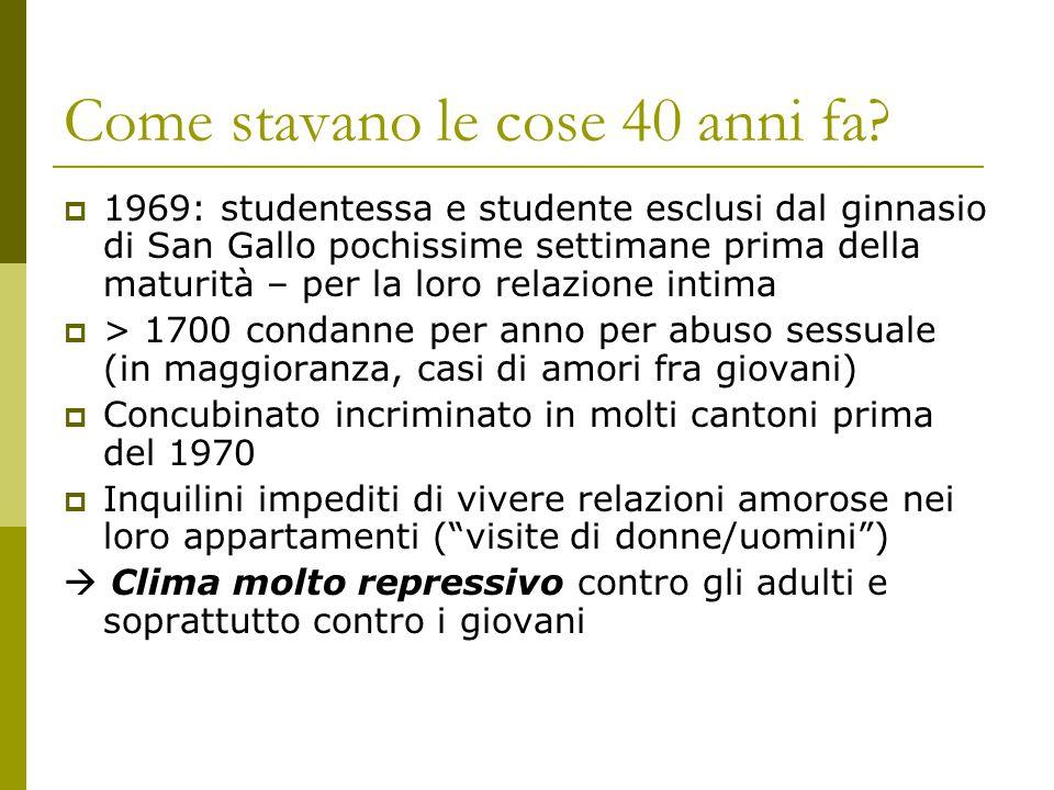 Come stavano le cose 40 anni fa?  1969: studentessa e studente esclusi dal ginnasio di San Gallo pochissime settimane prima della maturità – per la l