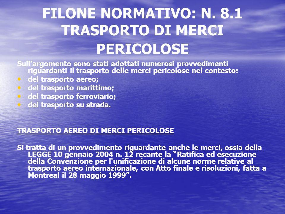 FILONE NORMATIVO: N.