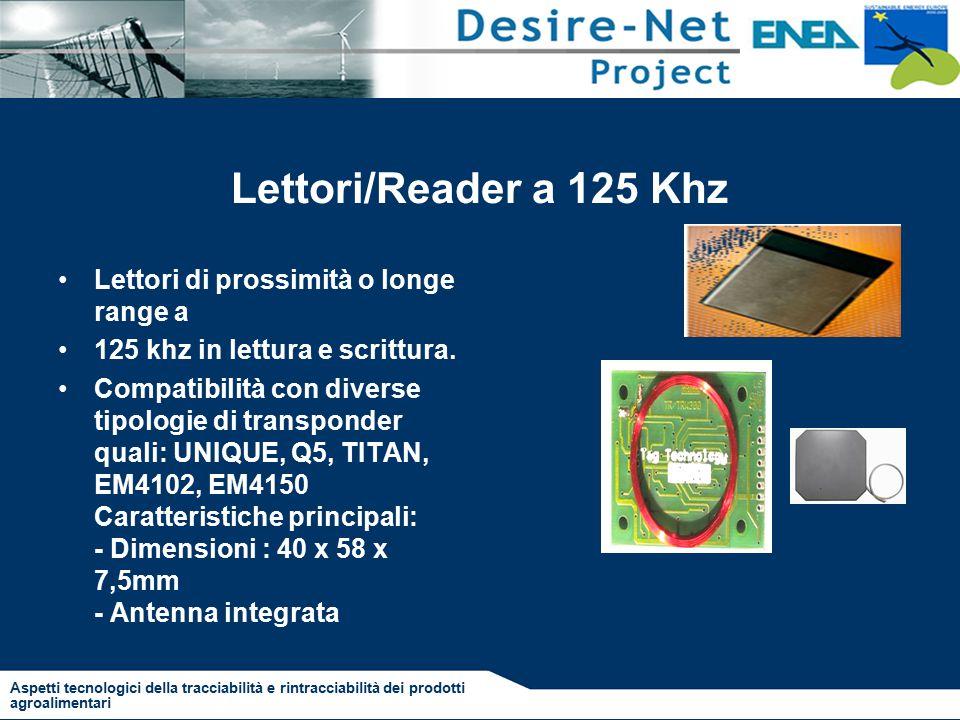 Lettori/Reader a 125 Khz Lettori di prossimità o longe range a 125 khz in lettura e scrittura.