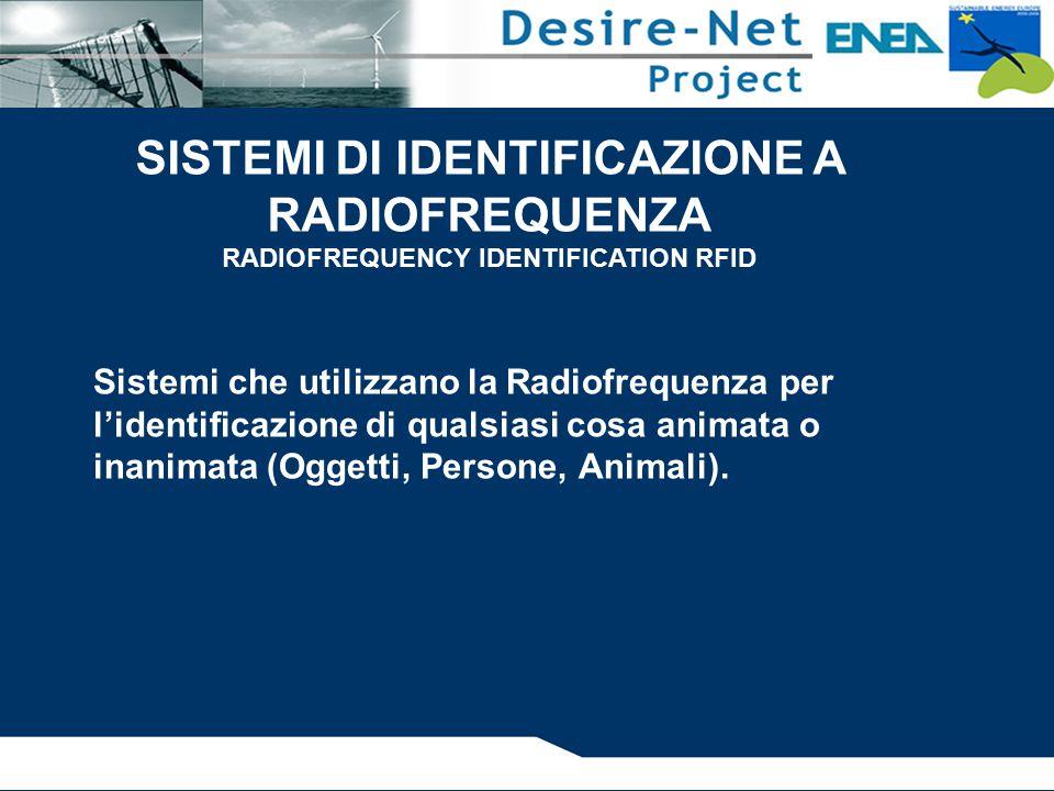 Sistemi che utilizzano la Radiofrequenza per l'identificazione di qualsiasi cosa animata o inanimata (Oggetti, Persone, Animali).