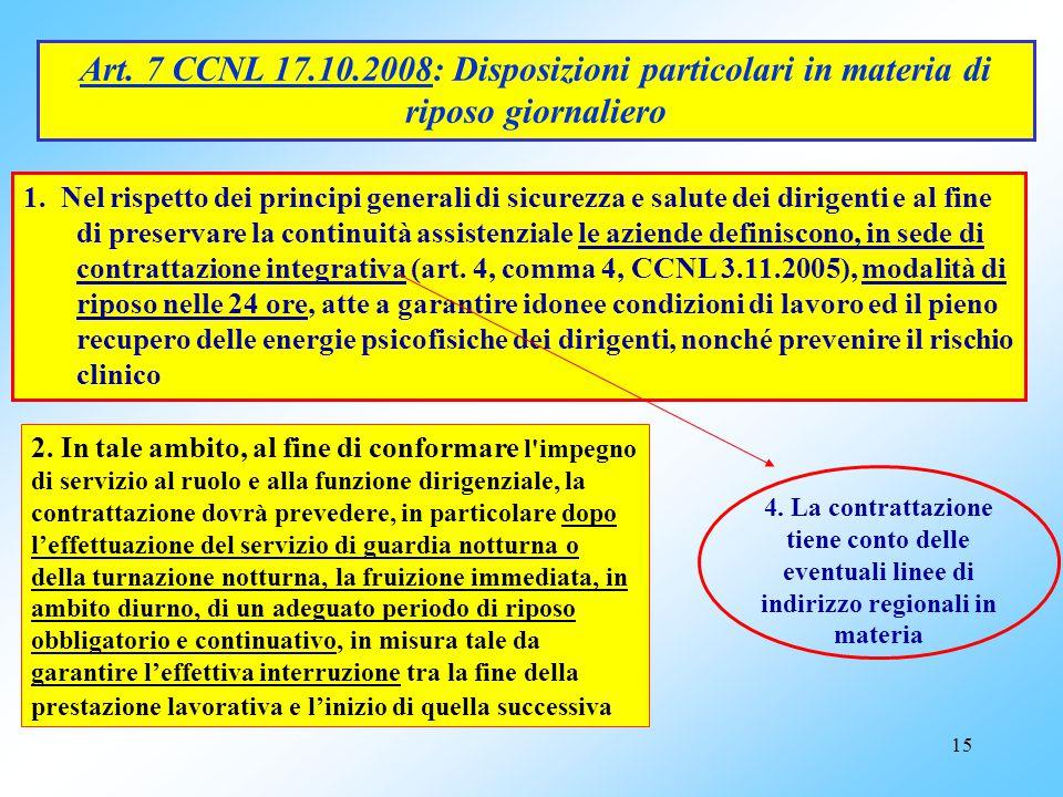 """14 NORMATIVA SOPRAVVENUTA Art. 3, comma 85, L. 244/2007 (Finanziaria 2008): All'art. 17 del d.lgs. 66/2003 è aggiunto, in fine, il seguente comma: """"6-"""