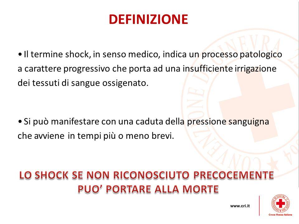 Il termine shock, in senso medico, indica un processo patologico a carattere progressivo che porta ad una insufficiente irrigazione dei tessuti di san