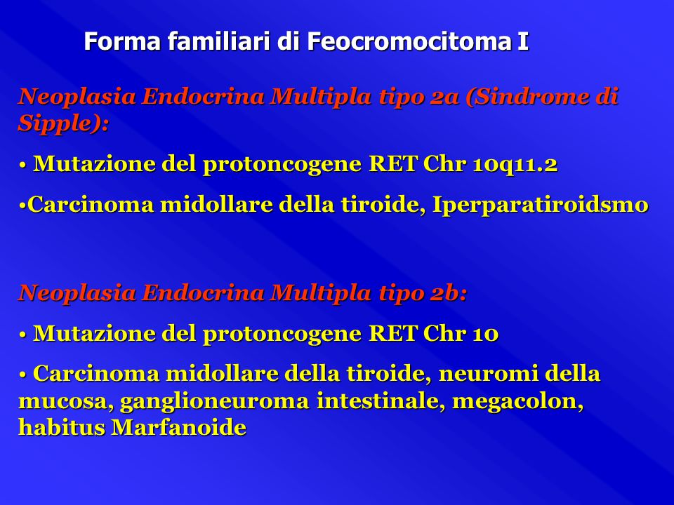 Feocromocitoma La più importante malattia della midollare surrenaleLa più importante malattia della midollare surrenale è il Feocromocitoma. Nella ghi
