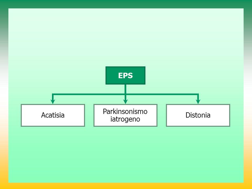 Acatisia EPS Parkinsonismo iatrogeno Distonia